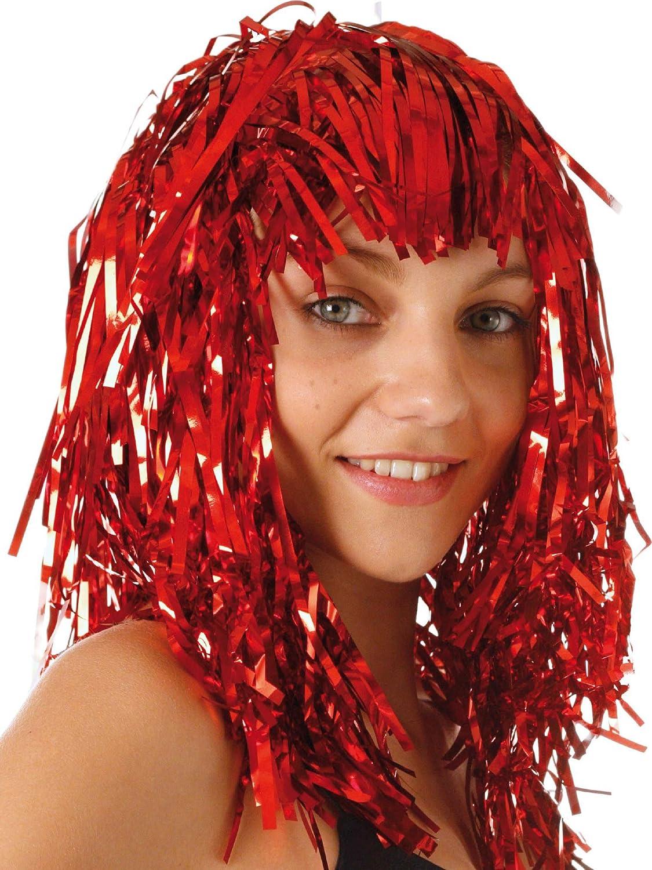 Parrucca Metallica Rossa Adulto Taglia UnicaParrucca Metallica Rossa Adulto Taglia Unica Vegaoo