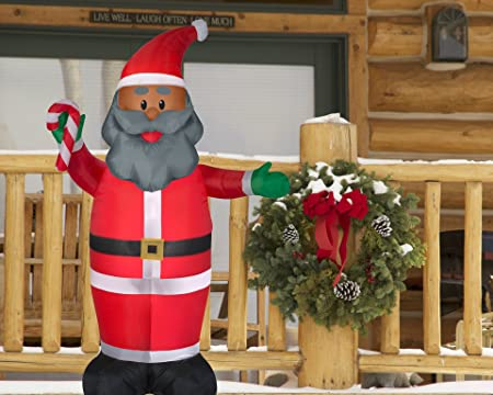 8e7f1fe75d1d6 Amazon.com  Black Santa Inflatable 7 Feet Tall