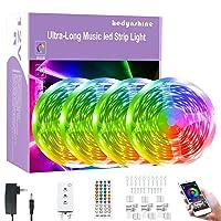 Deals on Hedynshine  65.6FEET Bluetooth Music Light Strips