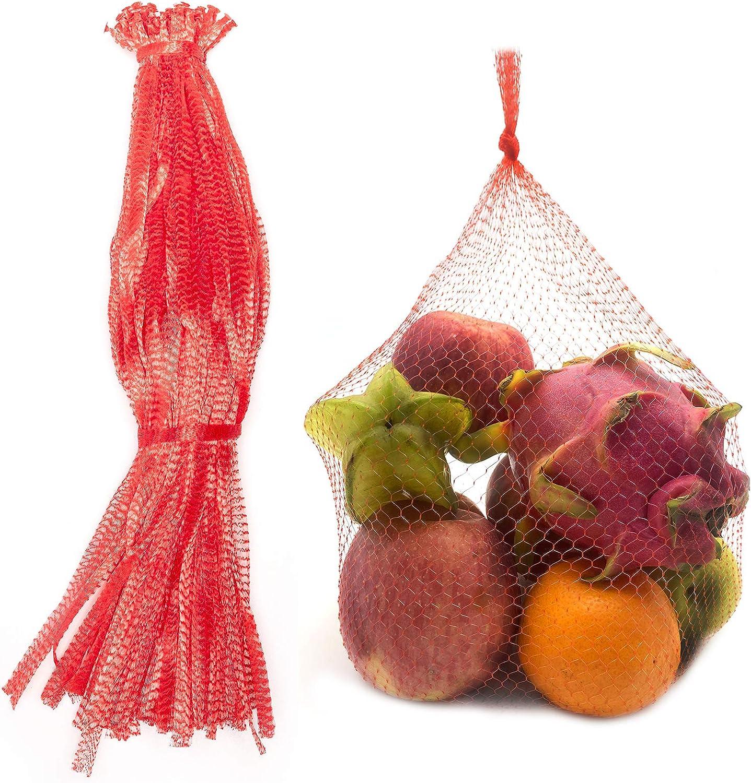 100Pcs 24'' Reusable Produce Bags Fruits Mesh Bag Plastic Produce Seafood Bag