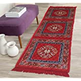 """AAZEEM Abstract Polyester Bed Side Runner - 68""""x21"""", Multicolour"""