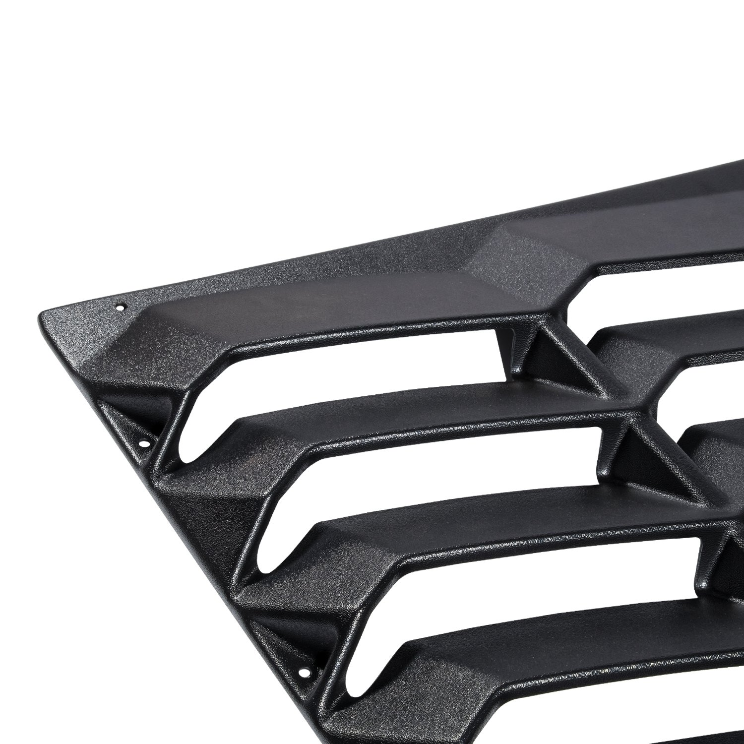 2017 E-cowlboy Window Louvers Fits 2016-2018 Chevy Camaro ABS Plastic Black Rear Window Visor Guards By IKON MOTORSPORTS