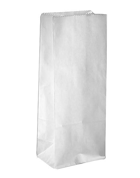 Boda bolsas de papel, 100 unidades), color blanco, aprox. 10 ...