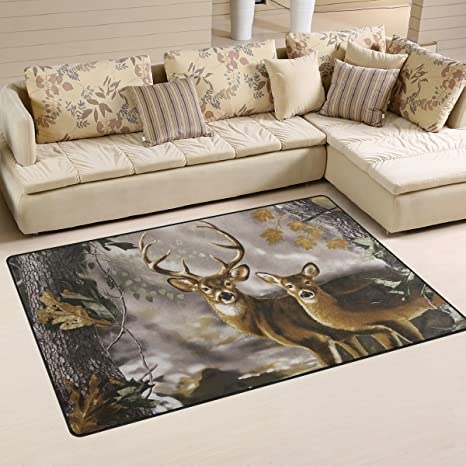 Naanle Camouflage Non Slip Area Rug for Living Dinning Room Bedroom Kitchen Camouflage Nursery Rug Floor Carpet Yoga Mat 20 x 31 Inches // 50 x 80 cm 1.7  x 2.6