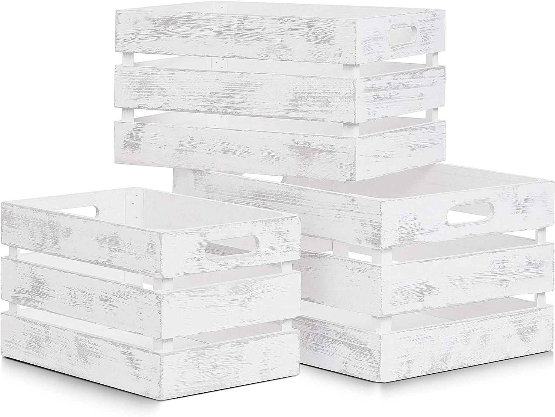 Blanco Madera 31x21x18.7 cm Zeller 15130 Caja de Almacenamiento