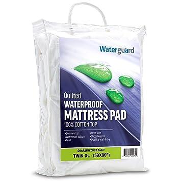 Waterguard - Bajera ajustable, acolchado colchón con 100% algodón Top - silencioso.: Amazon.es: Hogar