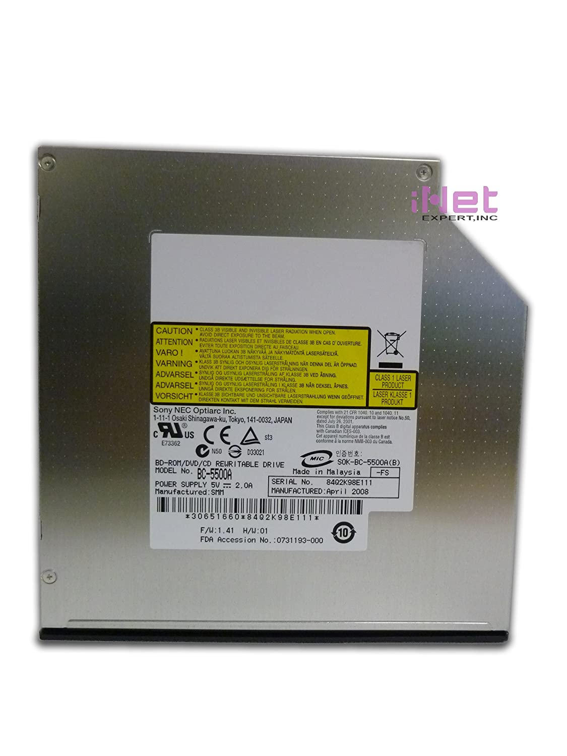 SONY NEC OPTIARC BC-5500A P-ATA WINDOWS 8 DRIVERS DOWNLOAD