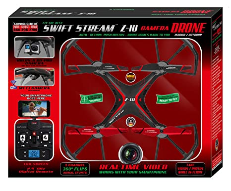Amazoncom Swift Stream Indooroutdoor Z 10 Camera Drone Red Toys