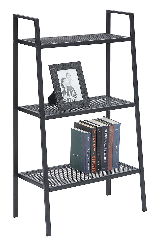 Convenience Concepts Designs2Go X-Tra Storage 3-Tier Metal Shelving, Black