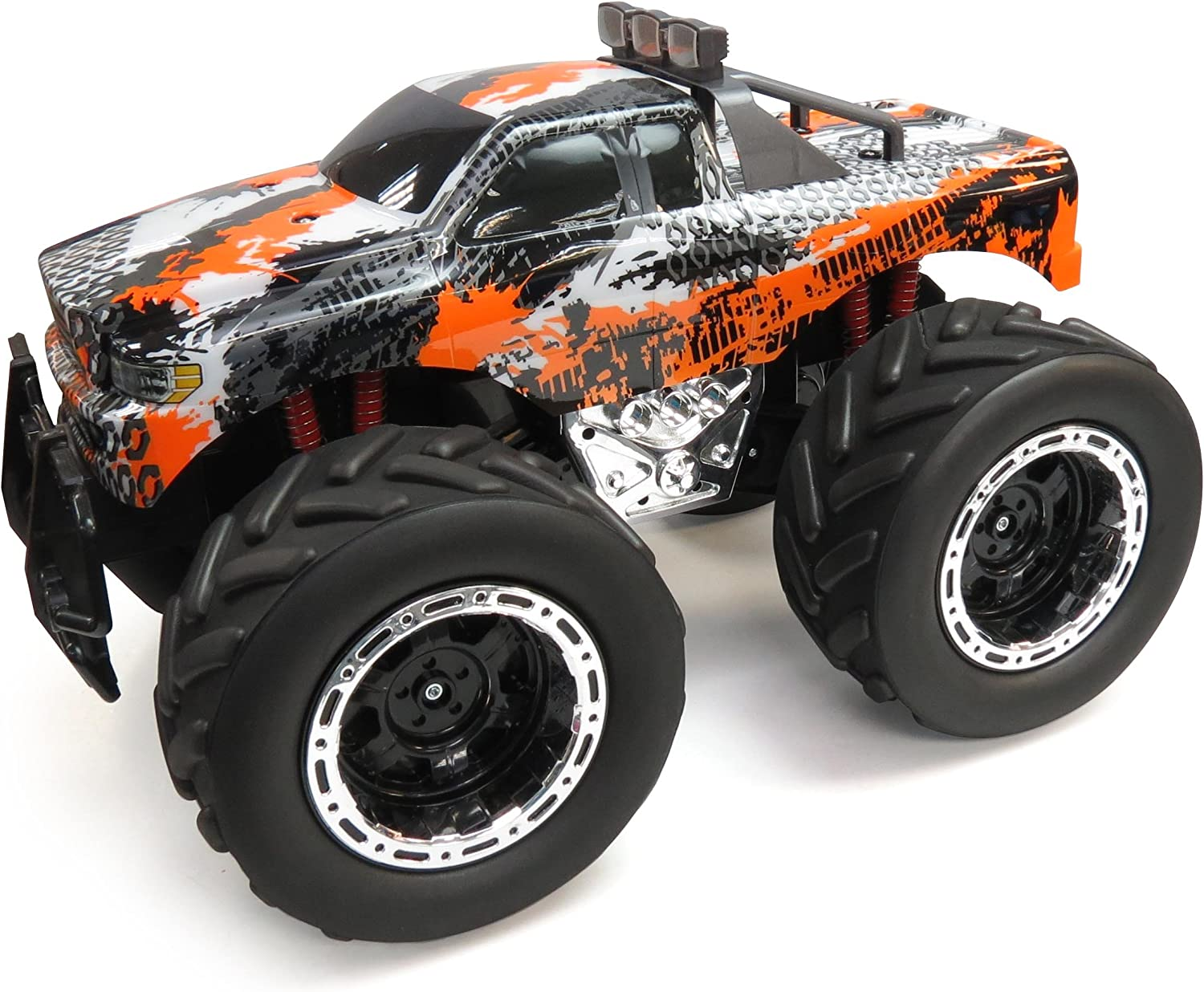 Amazon Com Jc Toys Huge 4x4 Remote Control Monster Truck Toys Games