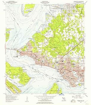 Amazon Com Yellowmaps Panama City Fl Topo Map 1 24000 Scale 7 5