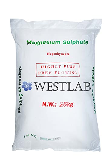 Westlab Pure, Unscented Epsom Salts (Bulk 55 Pound Bag) Natural USP Grade Magnesium
