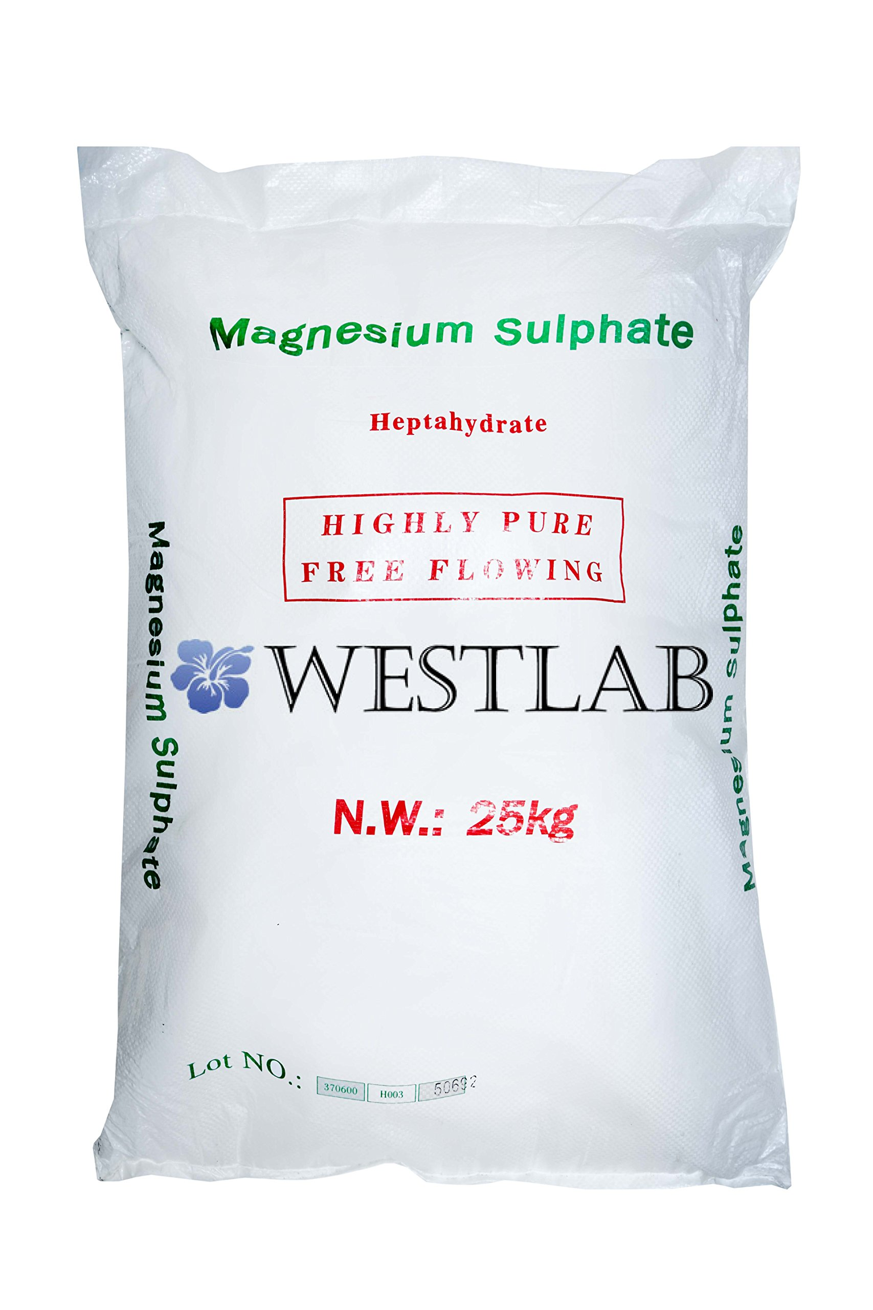 Epsom Salt 55lb FCC Grade (1 Large Bag)