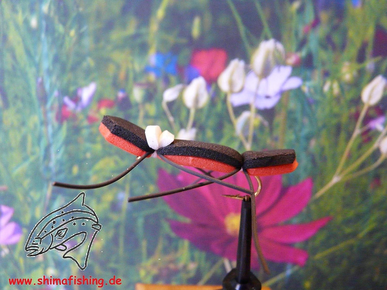 Trockenfliegen  Orange Tchernobyl Ant  3er Set Hakengr/ö/ße 10
