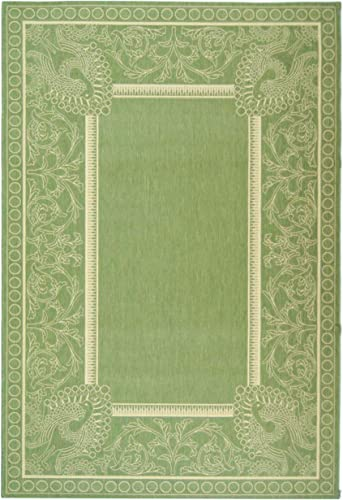 Safavieh Courtyard Collection CY2965-1E06 Olive and Natural Indoor Outdoor Area Rug 9 x 12