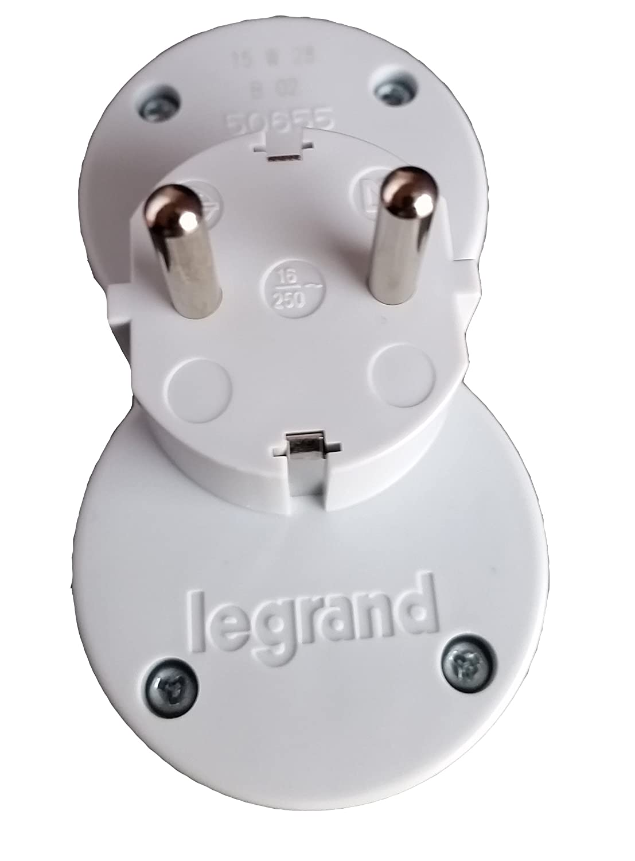 Legrand Multi conector con 2/enchufes y protecci/ón infantil Conector m/últiple 2/tomas adaptador