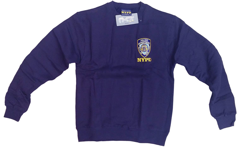 4b16dfbe Amazon.com: NYC FACTORY NYPD Mens Crewneck Sweatshirt Navy: Clothing