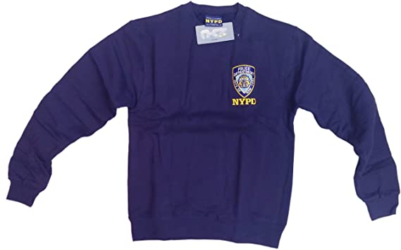 ec9bd7314 Amazon.com: NYC FACTORY NYPD Mens Crewneck Sweatshirt Navy: Clothing