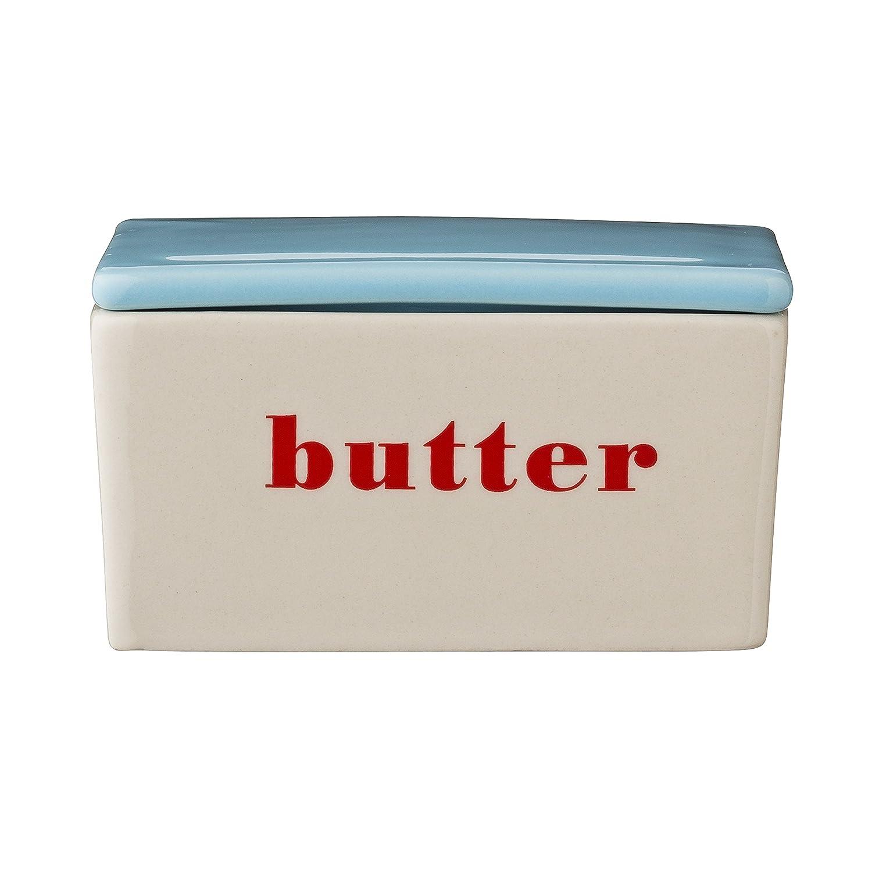 Bloomingville Ceramic Carla Butter Box, Multicolor A21100082