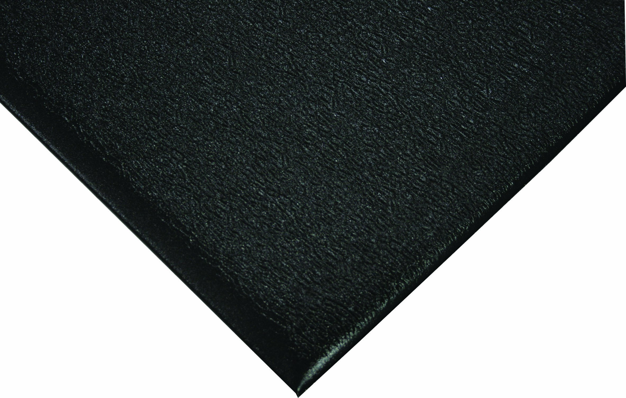 Wearwell PVC 427 SoftStep Light Duty Anti-Fatigue Mat, for Dry Areas, 3' Width x 5' Length x 3/8'' Thickness, Black
