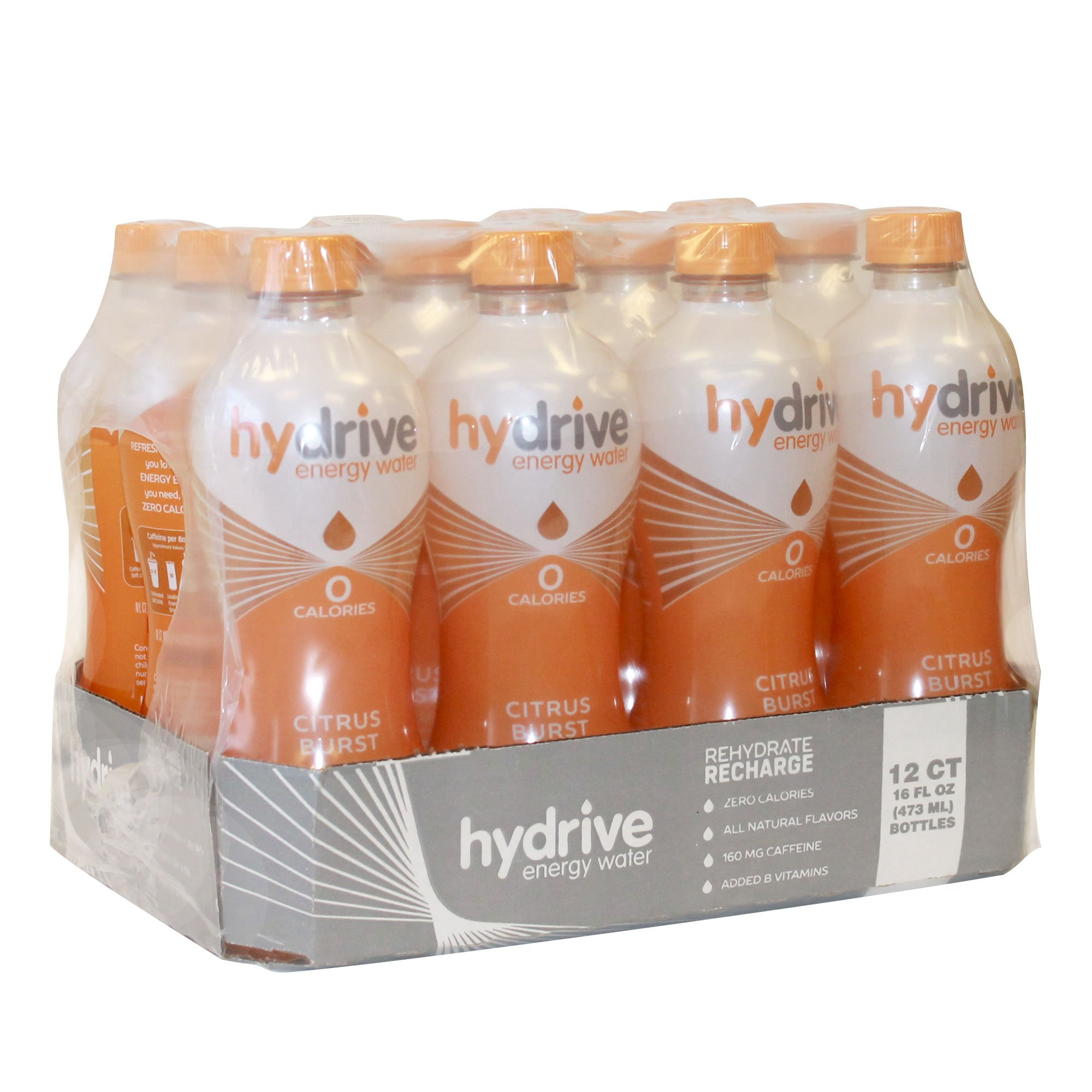 Hydrive Energy Water | Citrus Burst | Sugar Free | Zero Calories | All Natural Flavors | Natural Energy | 16 oz (Pack of 12) by Hydrive (Image #4)