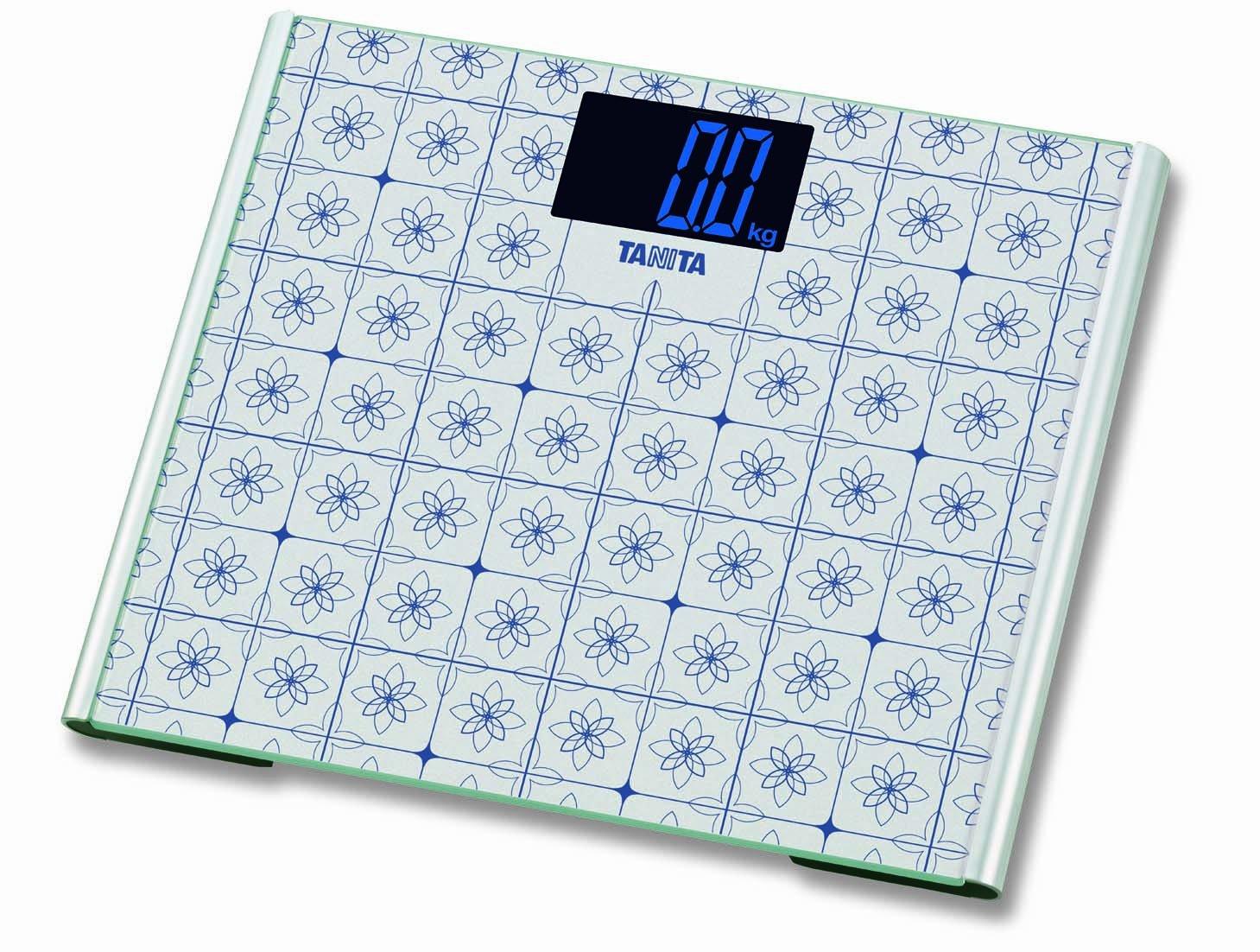 Tanita HD387 White Glass Digital Bathroom Scale