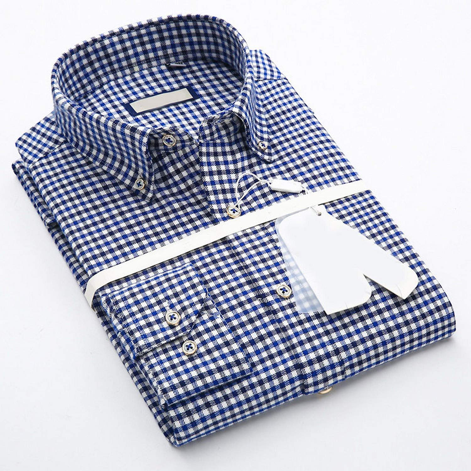 Autumn Grade Quality Plaid Long-Sleeved Button Down Collar Cotton Men Casual Shirts Soft Comfortable not Fade Male Tops