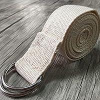Leruyx Correa de Yoga Correas de Ejercicio duraderas de algodón Correas Extra largas estándar La Hebilla Ajustable del Anillo en D Brinda flexibilidad para el Yoga