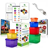 Amazon Price History for:One Day Sale - 7 Piece Portion Control Containers Colored Set Meal Prep Kit for Weight Loss + Recipe E-Book + Healthy Lifestyle E-Book + Professional User Guide + Measuring Tape by All-Green Products