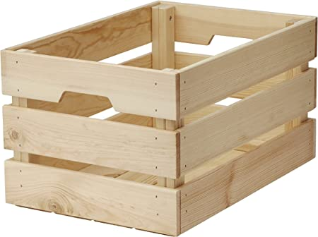 Ikea Knagglig Kasten Aus Massiver Kiefer 46x31x25cm Amazon De Kuche Haushalt