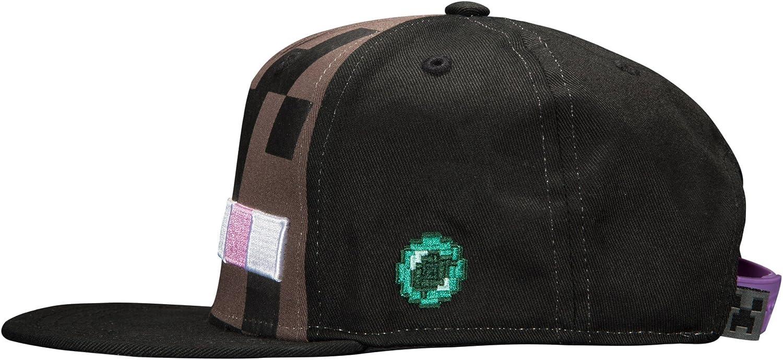 Talla /única Color Negro Jinx Inc. JX6207 Minecraft b/éisbol Enderman Mob Sombrero Gorra j6207