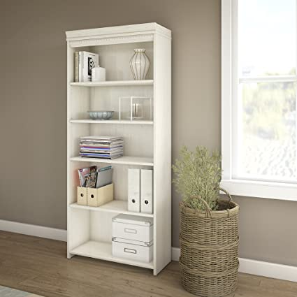Fairview 5 Shelf Bookcase in Antique White - Amazon.com: Fairview 5 Shelf Bookcase In Antique White: Kitchen & Dining