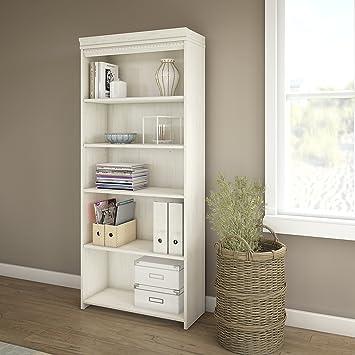 Fairview 5 Shelf Bookcase In Antique White