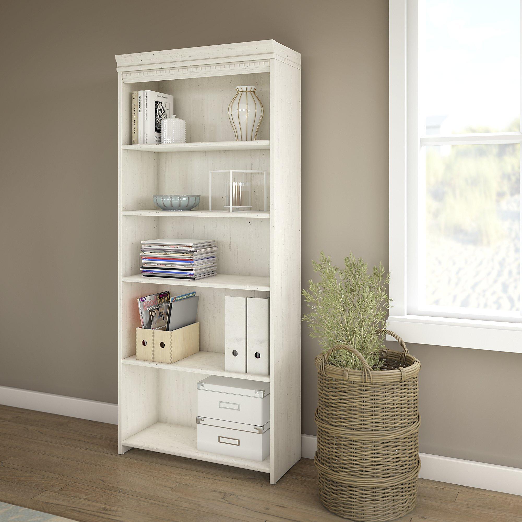 Bush Furniture Fairview 5 Shelf Bookcase in Antique White by Bush Furniture (Image #2)