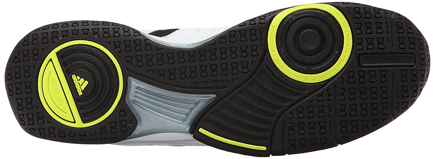 Amazon.com   adidas Men's Court Stabil 12 Volleyball Shoe,  Black/Silver/Solar Yellow, 7 M US   Volleyball