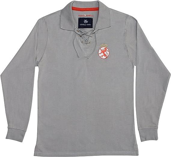 Coolligan - Polo de Fútbol Retro 1923 Cultural - Color - Gris - Talla ...