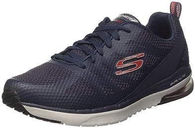 free shipping 2e429 4bf58 Skechers air Infinity-Kilgor, Chaussures de Running Homme, Bleu (Navy Red