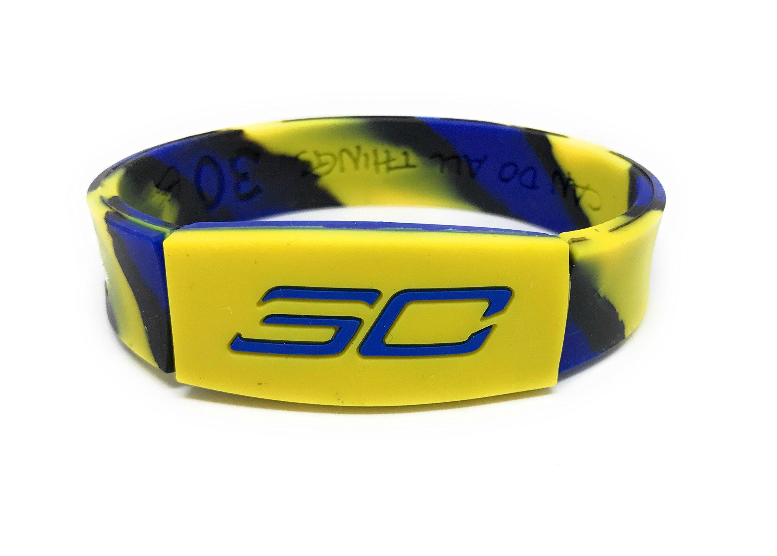 SportsBraceletsPro KIDS REVERSIBLE Wristband SIZE 6.7'' Bracelet (Curry KIDS 6.7'' Camo)