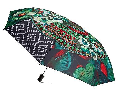 Desigual Umbrella Sunrise Verde Selva