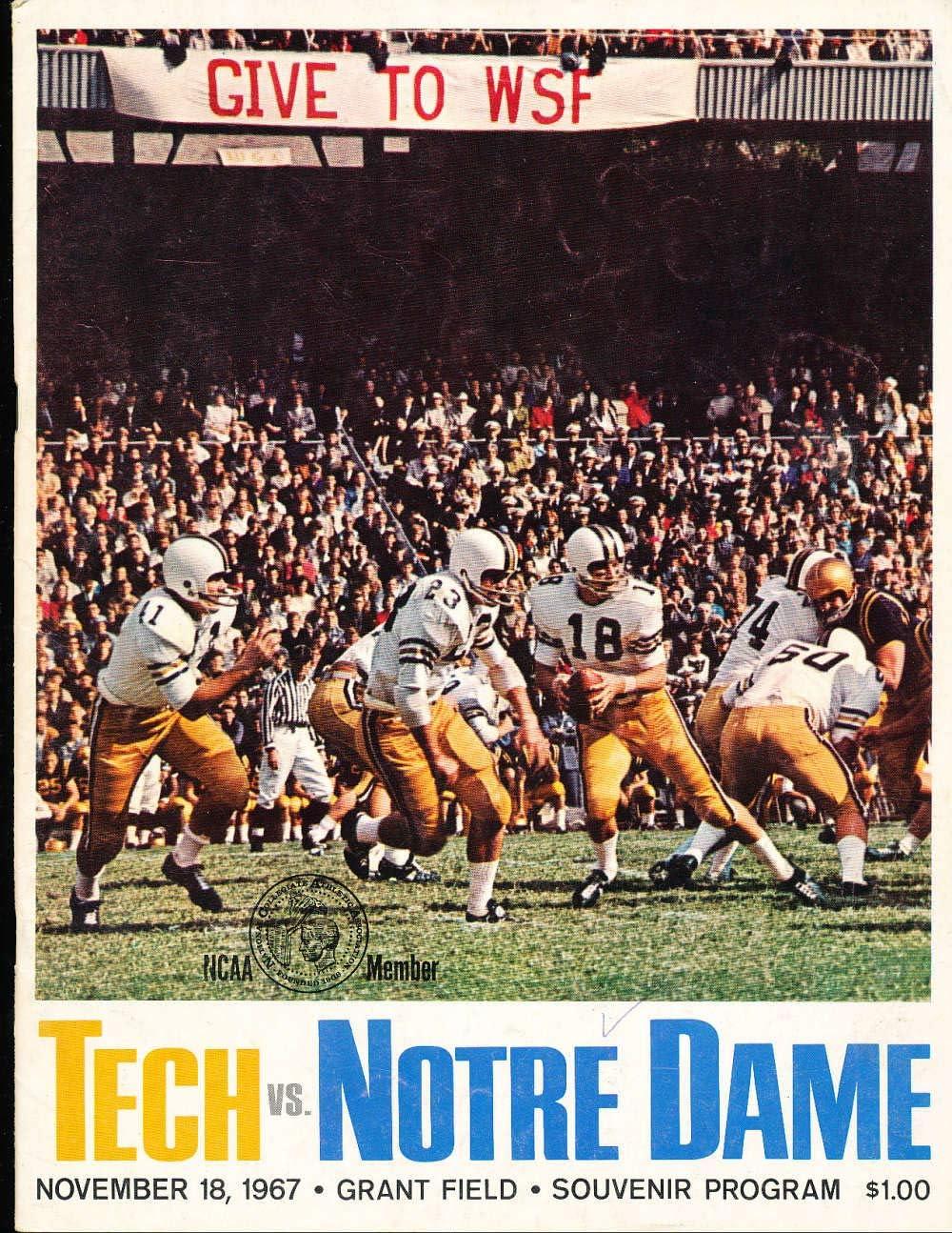 Amazon Com 11 18 1967 Notre Dame Vs Georgia Tech Football Program Bx26 A6 Sports Collectibles