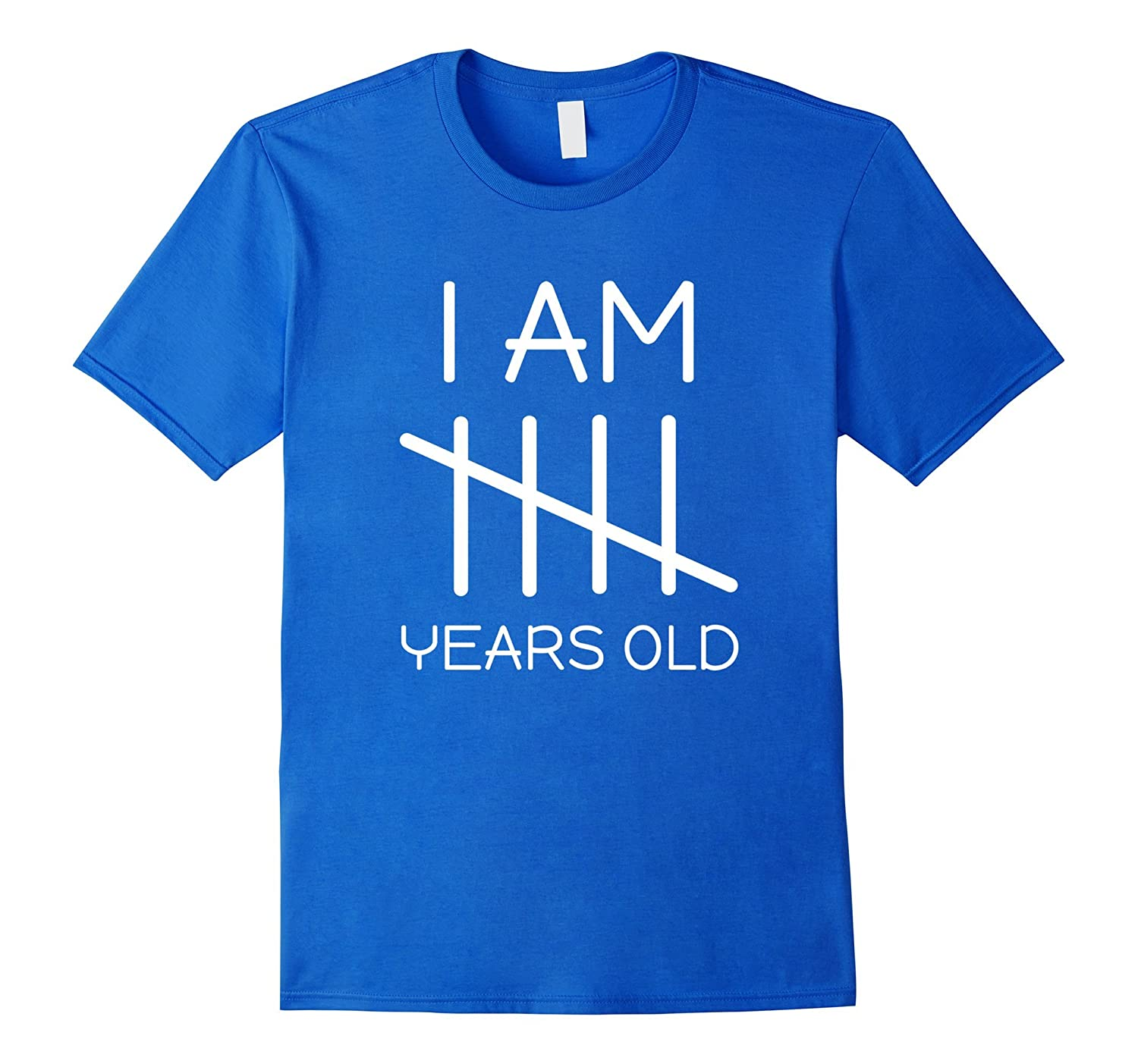 I Am 5 Years Old Tally Mark Funny Cute Birthday T Shirt 5th CL