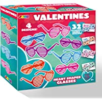 32 Valentines Day Shade Glasses for Kids & Gift Cards with Heart Shaped Shutter Valentine Party Favor, Valentine's…