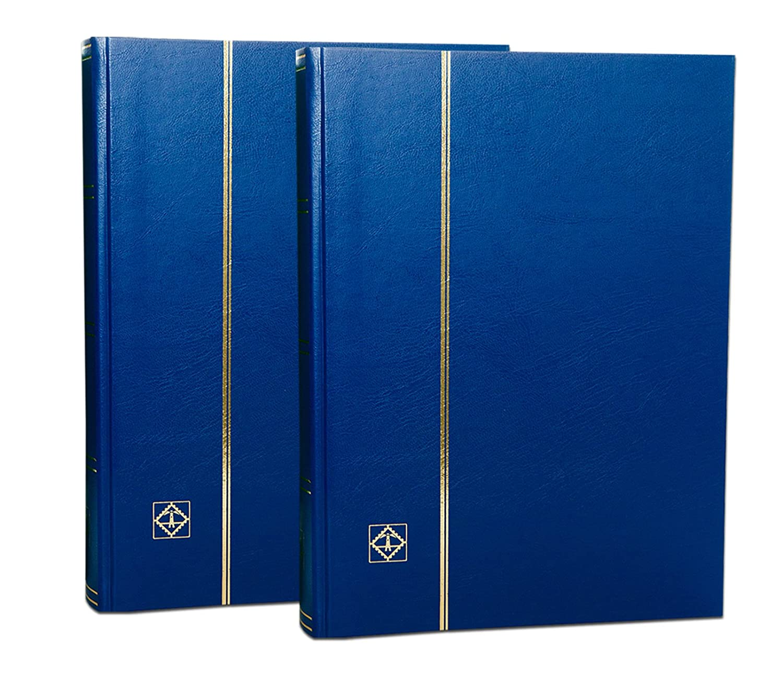 couvertures bleues 2 Classeurs Albums Leuchtturm 64 pages fond noir