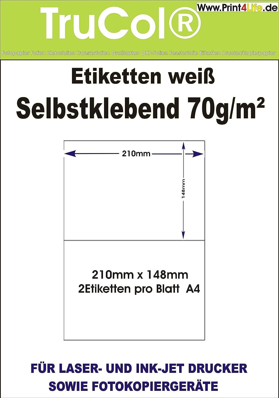 1x1 Etikett DIN A5 DHL 200 Etiketten 210 x 148 mm EINZELN = 200 DIN A5 Bögen