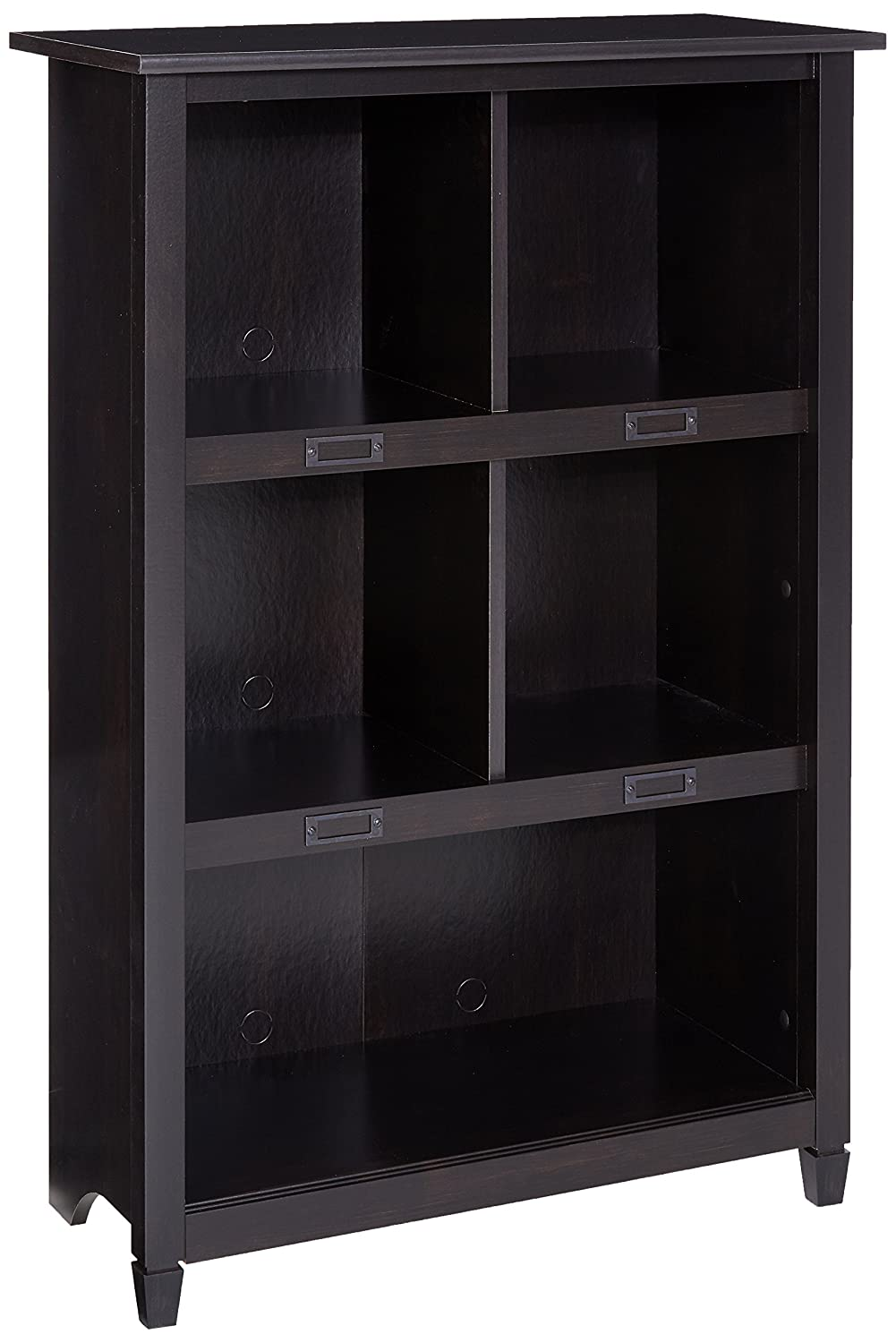 Sauder Edge Water Bookcase, Estate Black 414814