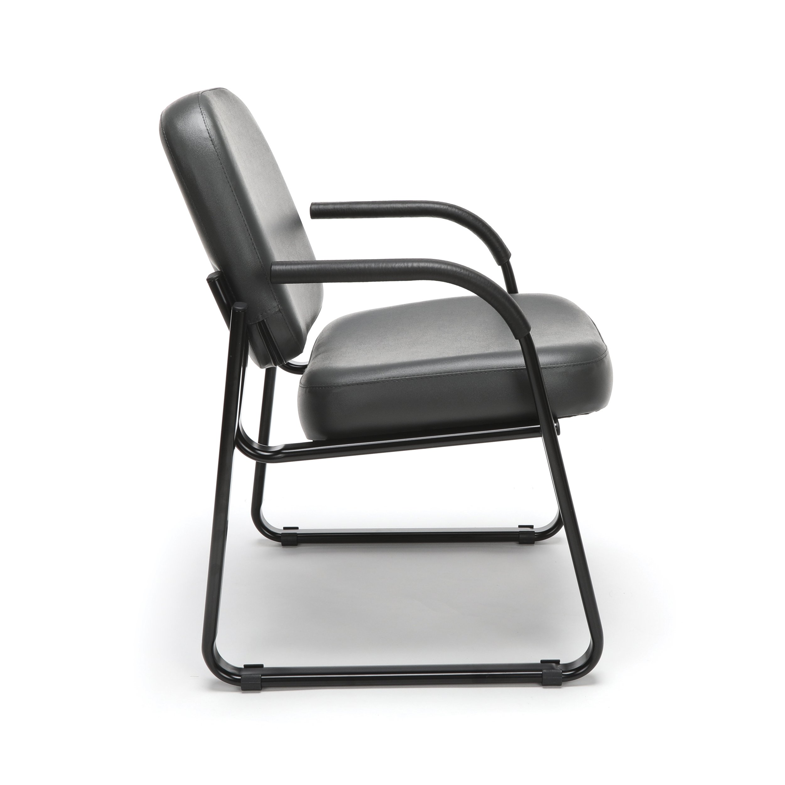 OFM Reception Chair with Arms - Anti-Microbial/Anti-Bacterial Vinyl Guest Chair, Charcoal (403-VAM) by OFM (Image #4)