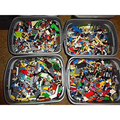 1000 + Lego Pieces Blocks Brick Parts Random Lot Cleaned and Sanitized Bulk Lbs: Toys & Games