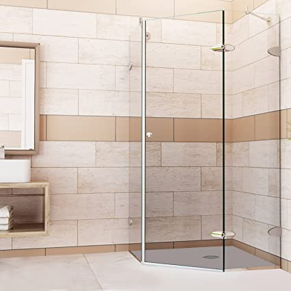 VIGO Verona 42 X 42 In. Frameless Neo Angle Shower Enclosure With .