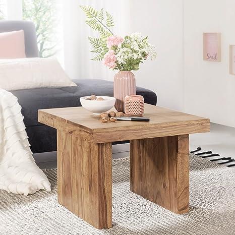 FineBuy tavolo in legno massello di acacia 60 x 60 cm Design tavolo ...