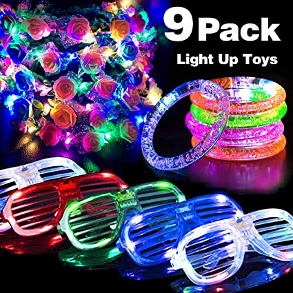 Novelty Led Flashing Flower Headband Hairband Glowing Light Floral Wreath Hair Ornament Children Girls Toys Christmas Party Apparel Accessories Girl's Accessories